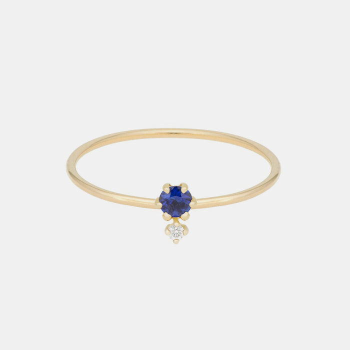 Duo Sapphire Ring, Ring, Hortense, Collyer's Mansion - Collyer's Mansion