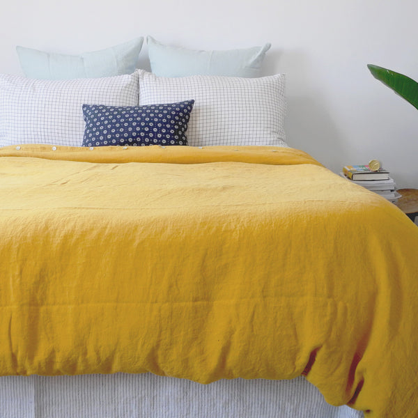 Linen Duvet, honey