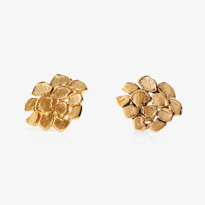 18k Gold Cluster Post Earrings, Earrings, Satomi Kawakita, Collyer's Mansion - Collyer's Mansion