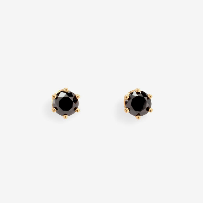 Black Diamond Stud Earrings, Earrings, Satomi Kawakita, Collyer's Mansion - Collyer's Mansion
