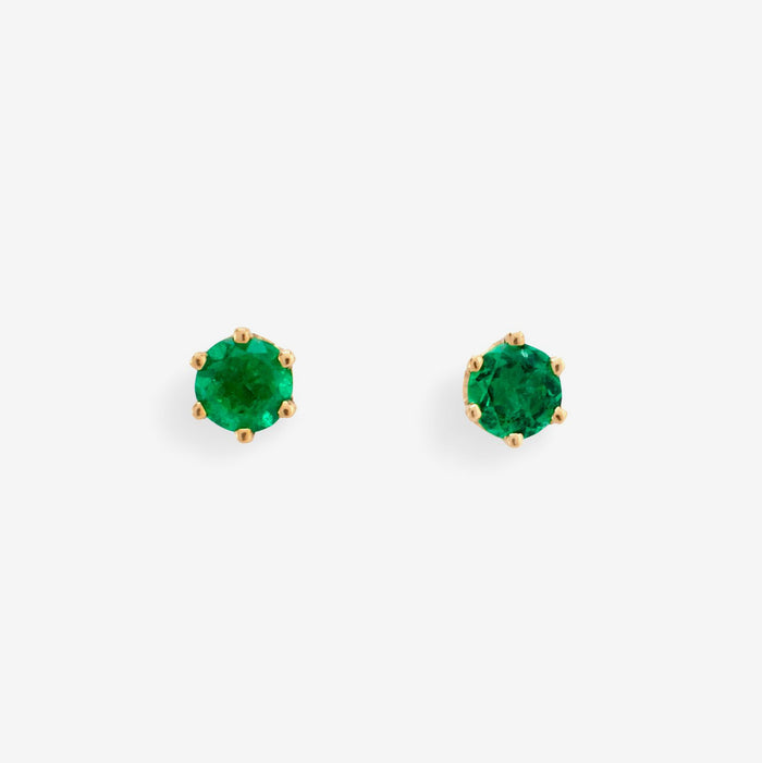 Emerald Stud Earrings, Earrings, Satomi Kawakita, Collyer's Mansion - Collyer's Mansion