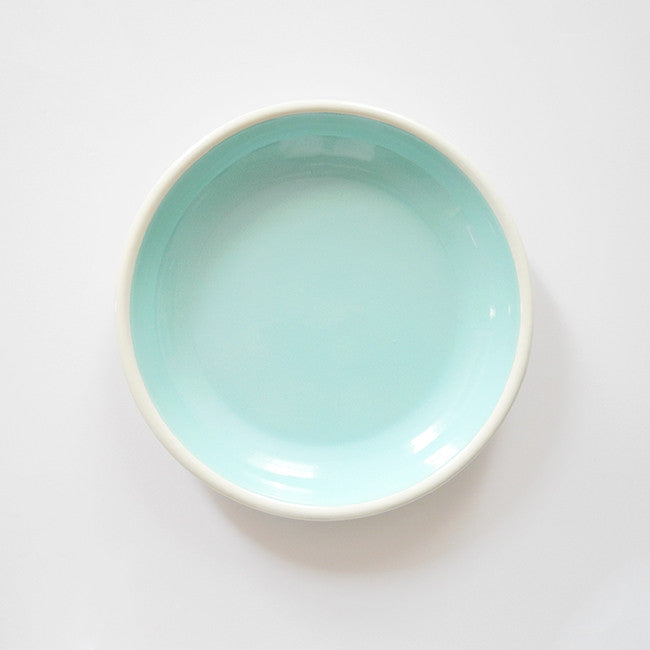 Light Blue Enamel Plate, large