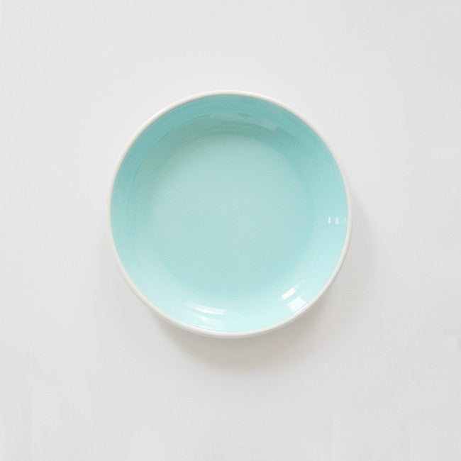 Light Blue Enamel Plate, medium, Plate, Bornn, Collyer's Mansion - Collyer's Mansion