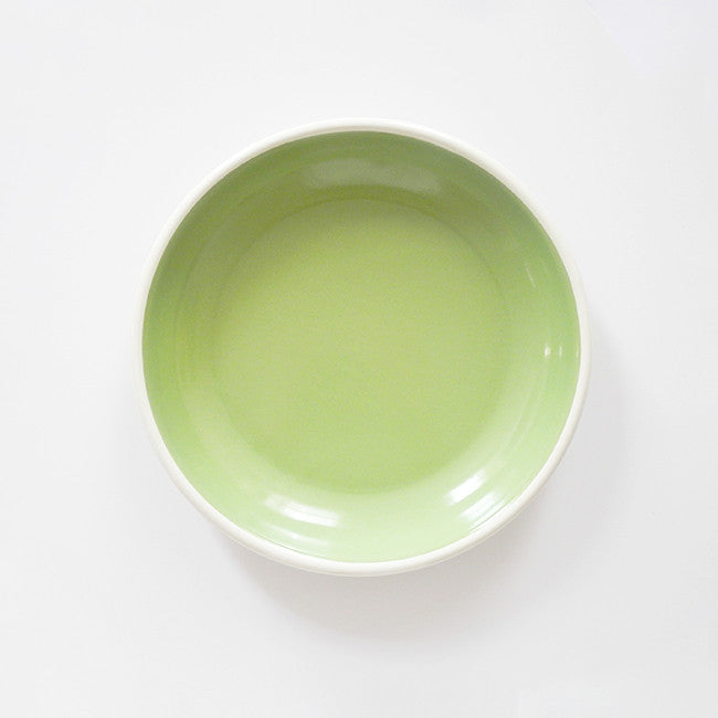 Mint Enamel Plate, large