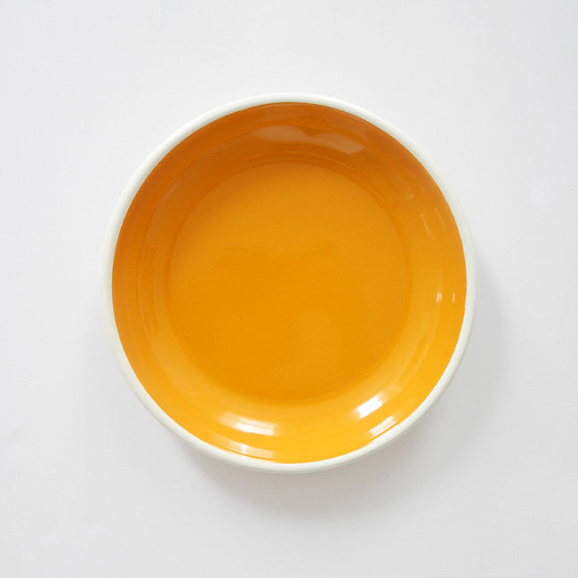 Yellow Enamel Plate, large