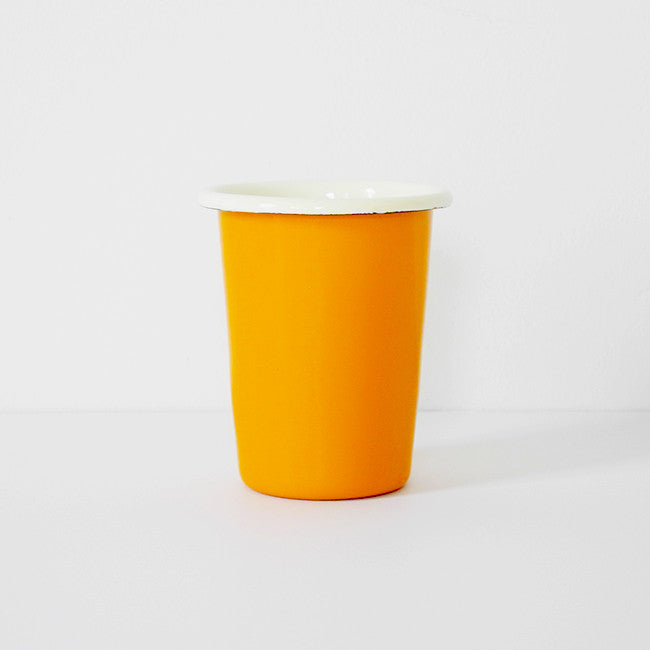 Yellow Enamel Tumbler