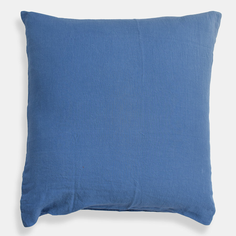 Linen Euro Pillowcase, atlantic blue