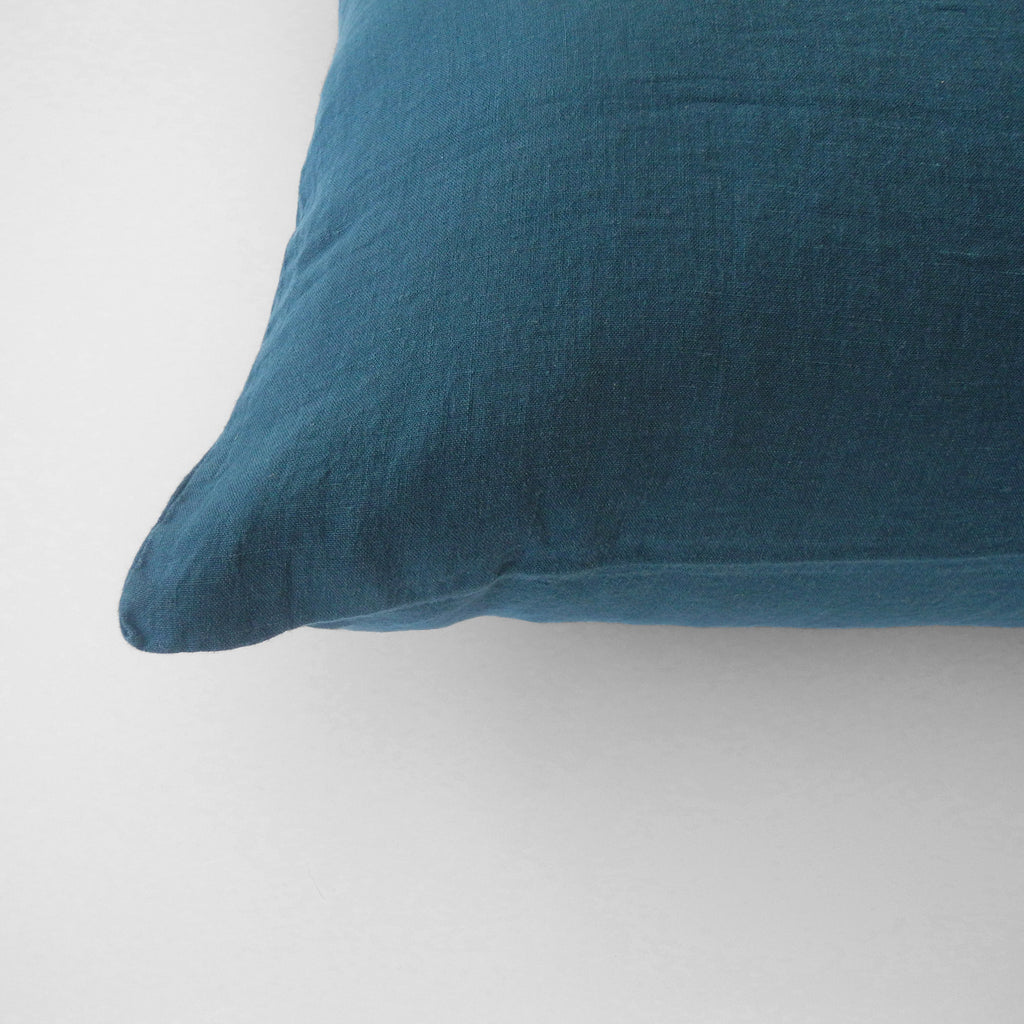 Linen Euro Pillowcase, duck blue