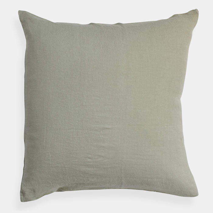 Linen Euro Pillowcase, fennel