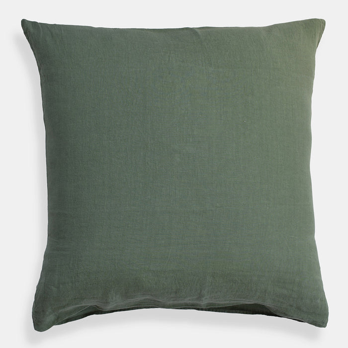 Linen Euro Pillowcase, jade