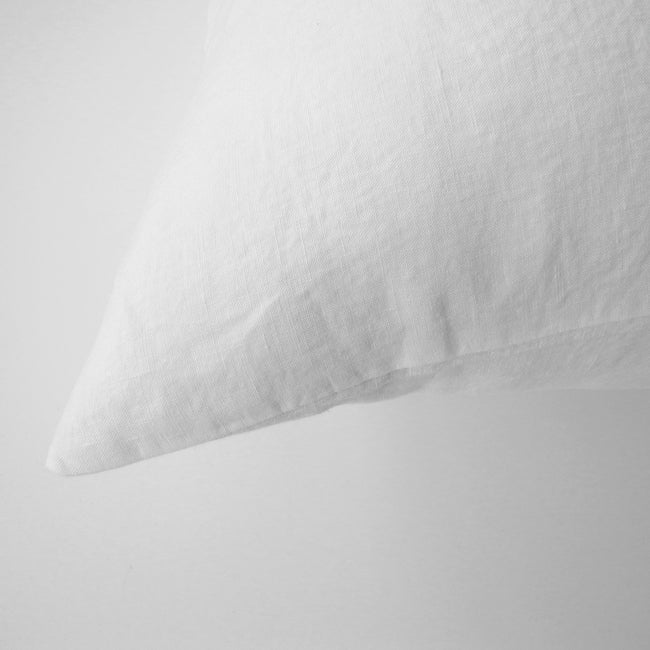 Linge Particulier Off White Euro Linen Pillowcase Sham for a colorful linen bedding look in soft white - Collyer's Mansion