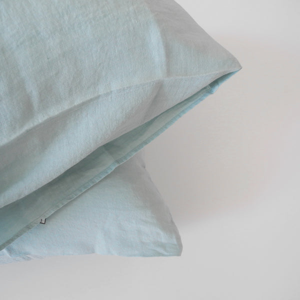 Linen Euro Pillowcase, pale blue