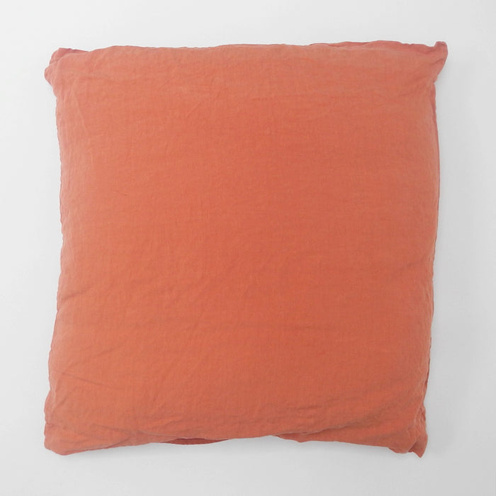 Linen Euro Pillowcase, peach, Pillowcase, Linge Particulier, Collyer's Mansion - Collyer's Mansion