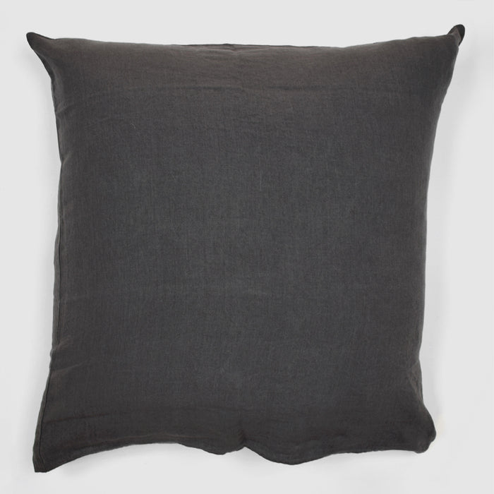 Linen Euro Pillowcase, storm grey