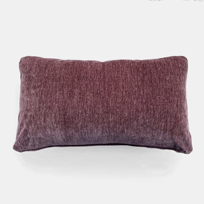 Everest Mulberry Velvet Pillow, lumbar