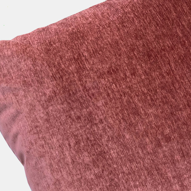 Everest Brick Velvet Pillow, square