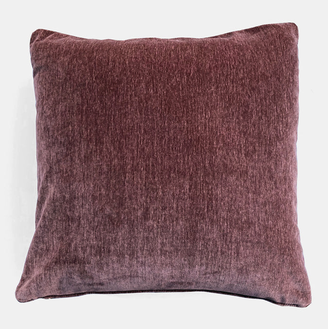 Everest Mulberry Velvet Pillow, square