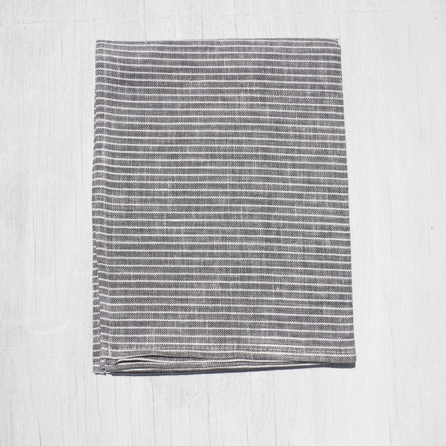 Linen Kitchen Cloth, thin gray stripe, Kitchen Cloth, Fog Linen, Collyer's Mansion - Collyer's Mansion