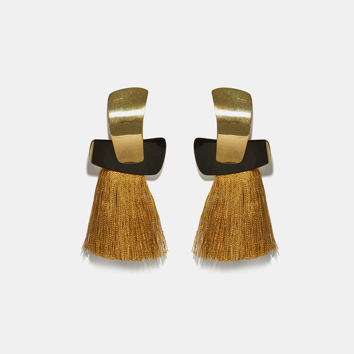 Totem Tassels in Ochre Earrings