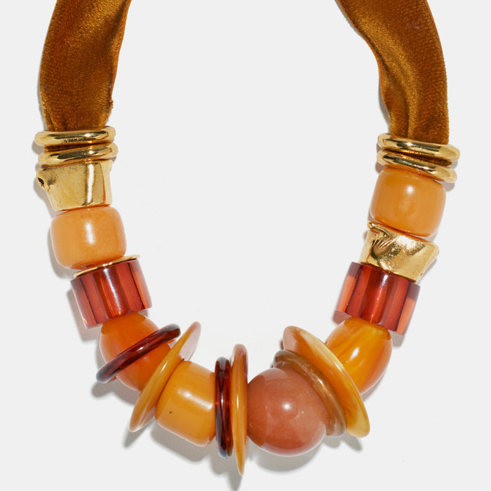 Amber Savanna Necklace, Necklace, Lizzie Fortunato, Collyer's Mansion - Collyer's Mansion
