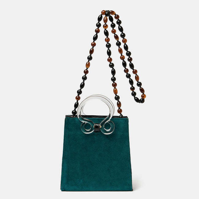 Pronto Purse in Teal Velvet
