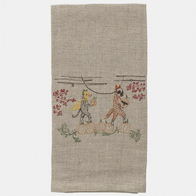 Fall Celebration Tea Towel, Kitchen Cloth, Coral & Tusk, Collyer's Mansion - Collyer's Mansion