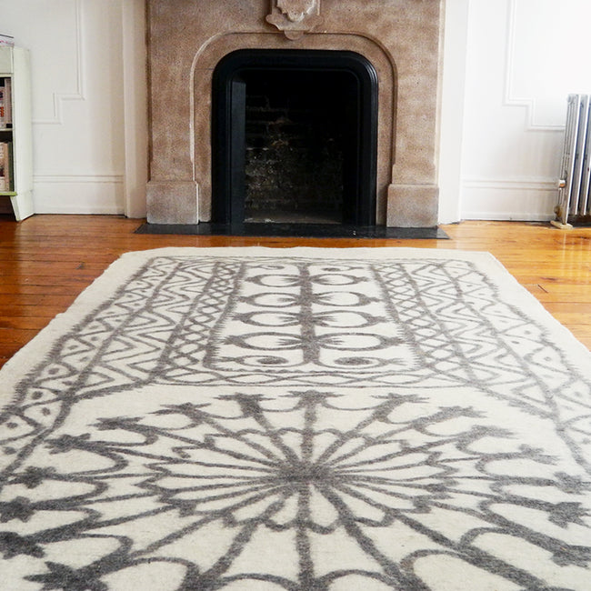 "Felt Rug, 4'6"" x 13'3"", Rug, Cote Pierre, Collyer's Mansion - Collyer's Mansion"