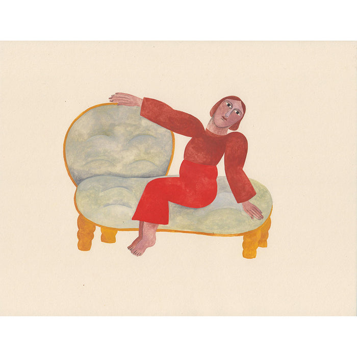 Figure on Couch, Art, Audrey Helen Weber, Collyer's Mansion - Collyer's Mansion