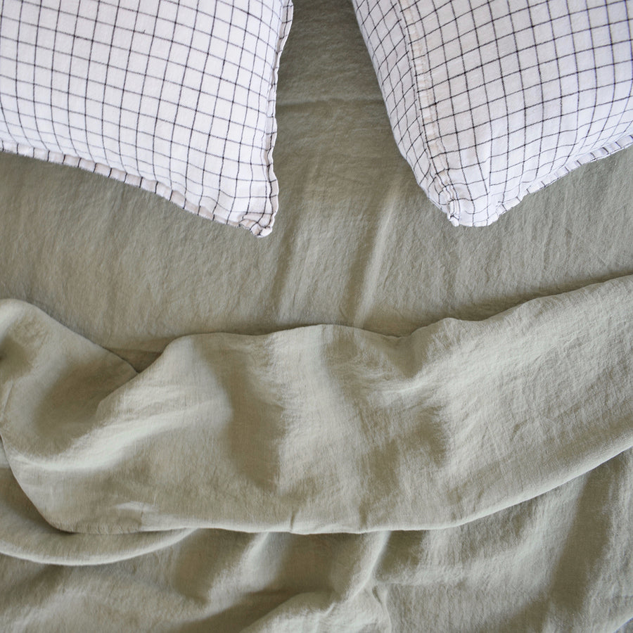 Linen Flat Sheet, fennel