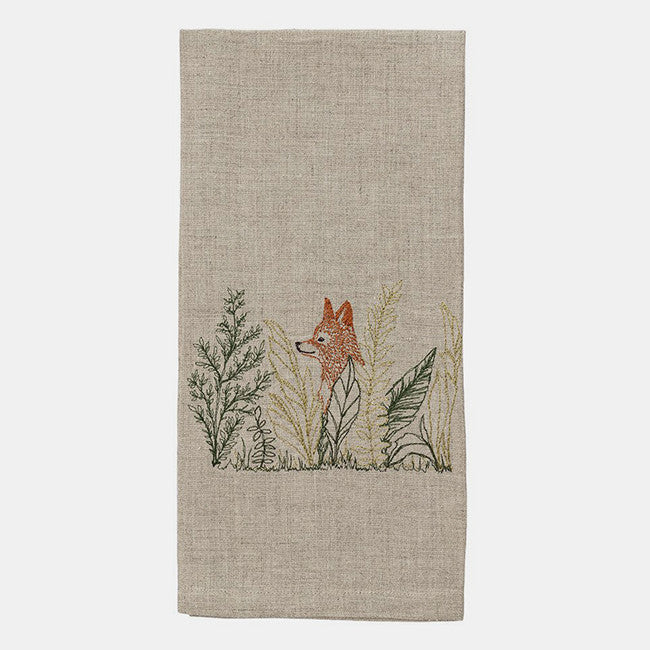 Fox Meadow Tea Towel, Kitchen Cloth, Coral & Tusk, Collyer's Mansion - Collyer's Mansion
