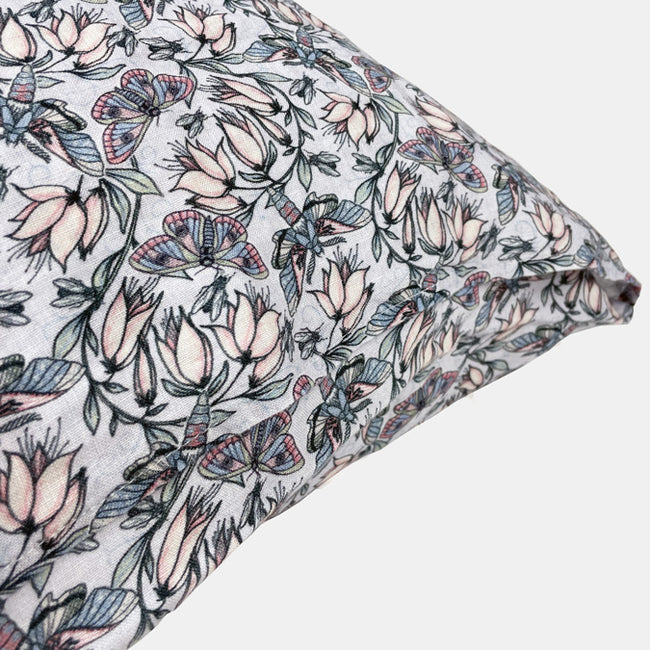 Linen Euro Pillowcase, butterfly