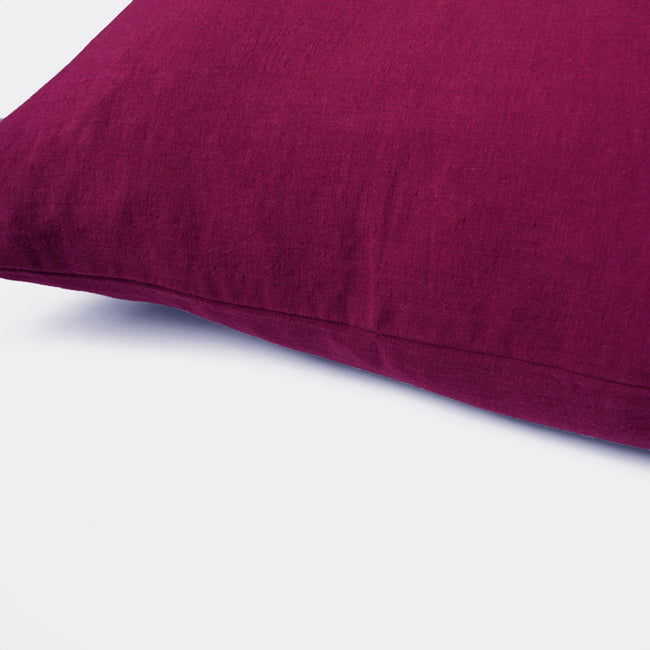 Linen Euro Pillowcase, beetroot