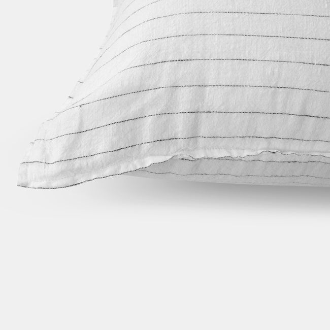 Linen Euro Pillowcase, tennis stripe