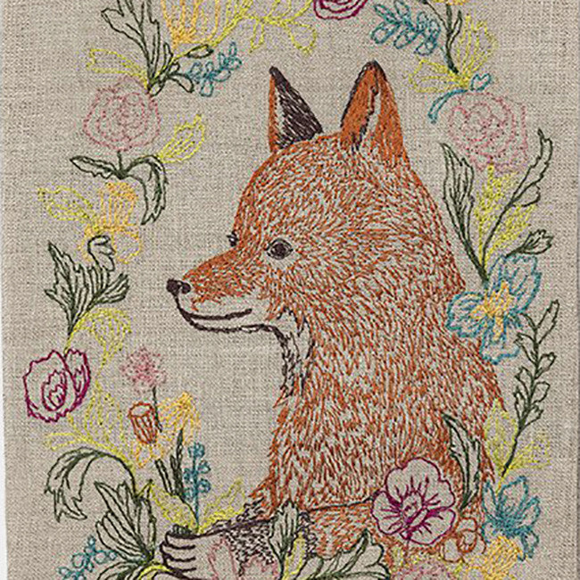Garland Fox Tea Towel, Kitchen Cloth, Coral & Tusk, Collyer's Mansion - Collyer's Mansion