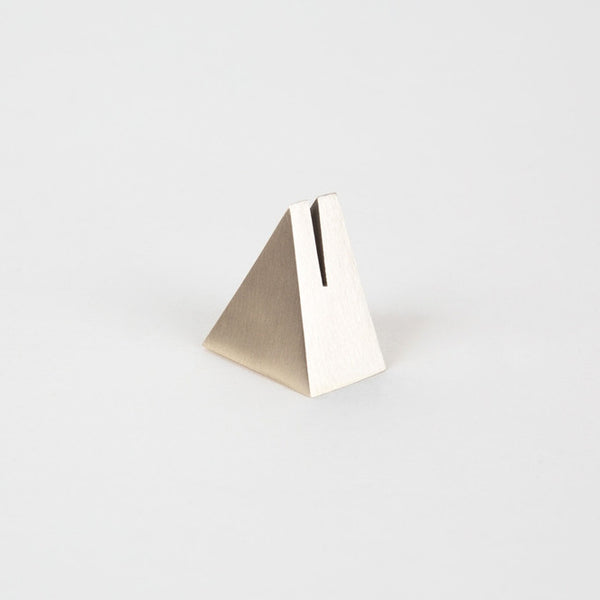 Brass Geo Stand, triangle