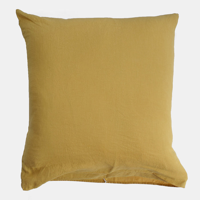 Linen Euro Pillowcase, gold