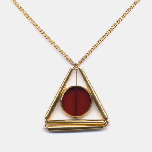Golden Pyramid Necklace