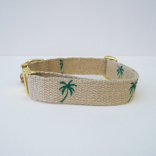 Green Palm Dog Collar