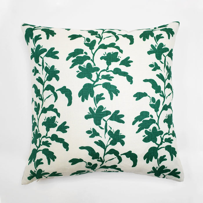 Green Vine Pillow, square, Pillow, Collyer's Mansion Collection, Collyer's Mansion - Collyer's Mansion