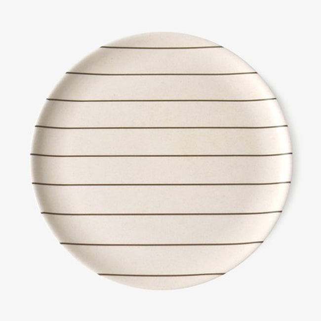 Grey Stripe Plate, large