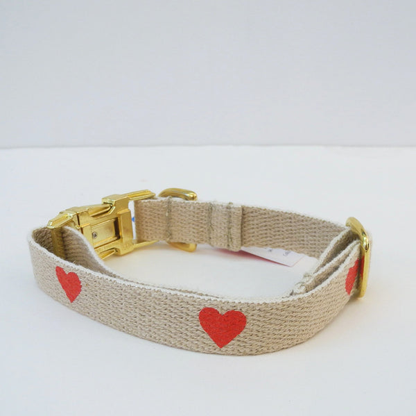Red Heart Dog Collar