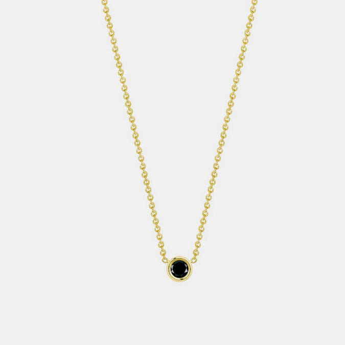 Flirty Necklace with Black Diamond