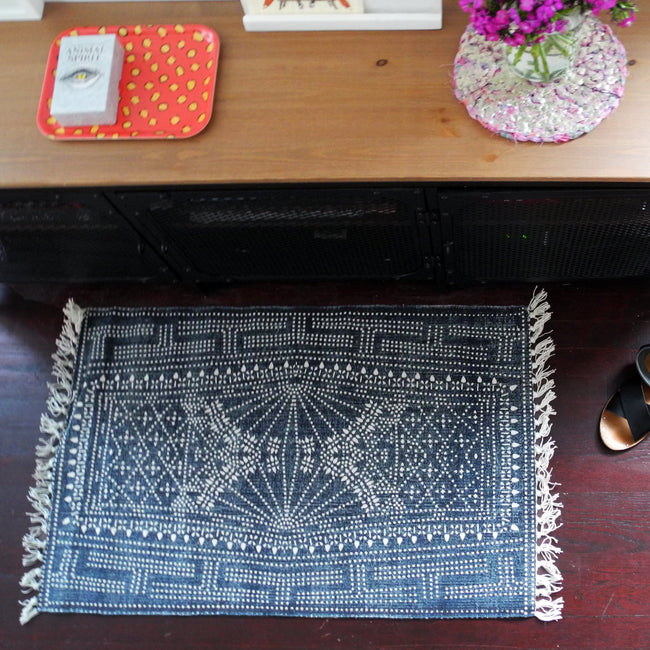 Awe Inspiring Indigo Batik Rug 2 X 3 Onthecornerstone Fun Painted Chair Ideas Images Onthecornerstoneorg