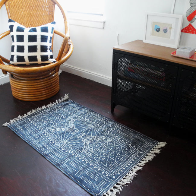 Fantastic Indigo Batik Rug 2 X 3 Onthecornerstone Fun Painted Chair Ideas Images Onthecornerstoneorg