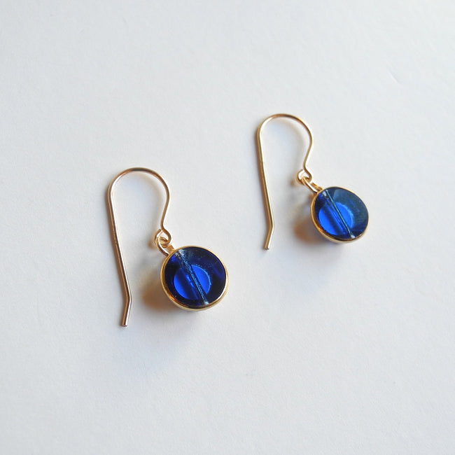 Blue Circle Drop Earrings, Earrings, I. Ronni Kappos, Collyer's Mansion - Collyer's Mansion