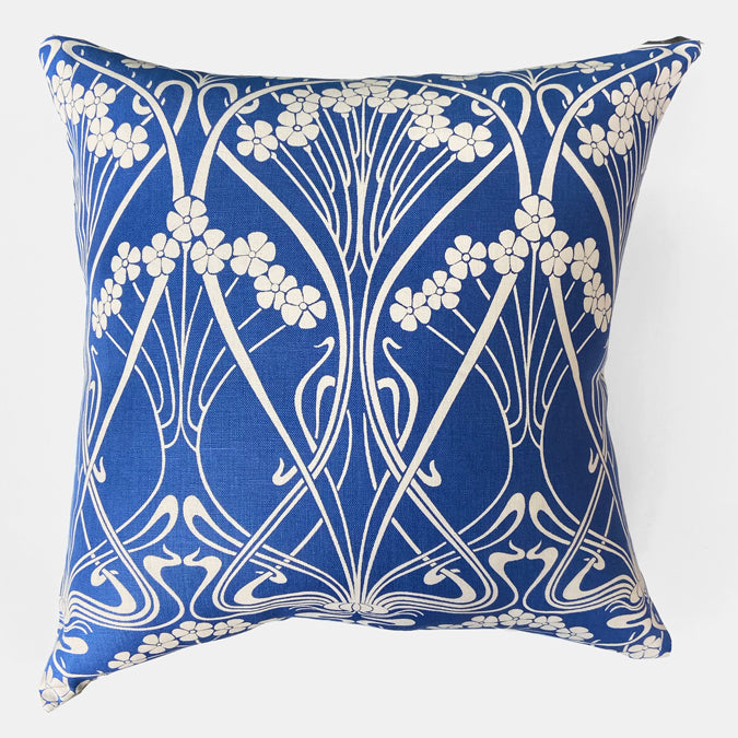 Liberty Ianthe Bloom Lapis Pillow, square