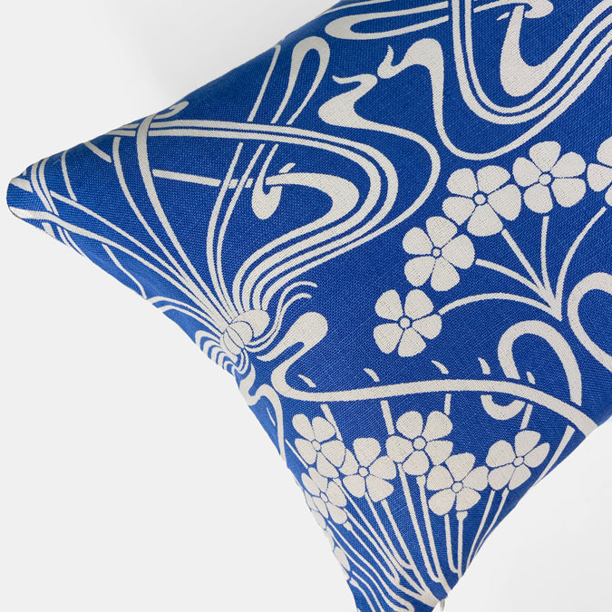 Liberty Ianthe Bloom Lapis Pillow, lumbar