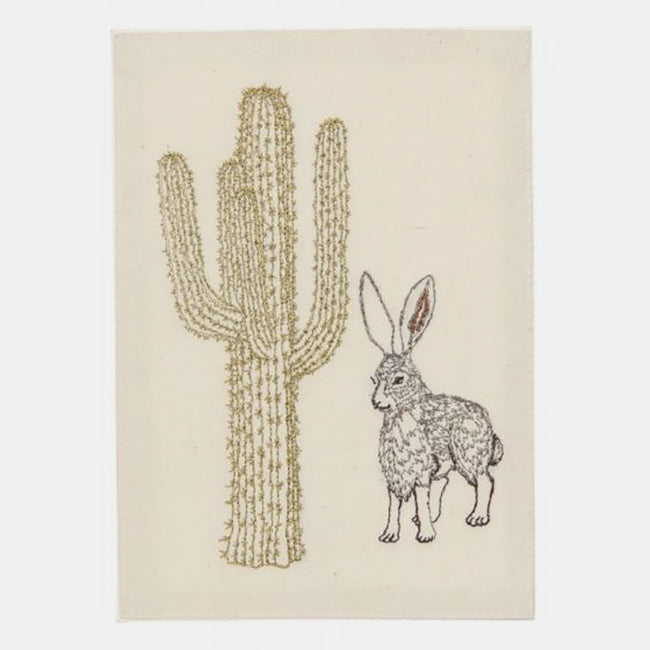 Jackrabbit and Saguaro Card