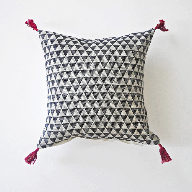 Alice Charcoal Pillow, square
