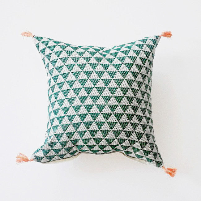 Alice Green Pillow, square